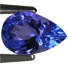 0.95 Ct A+ Natural D Block Tanzanite Medium Light Blue Violet Color Pear Cut