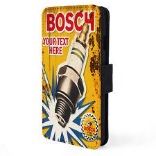 Personalised BOSCH PLUG Garage iPhone Case Vintage Retro Mechanic Dad Gift OC02