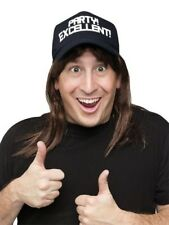 Waynes World Excellent Wayne Hat Wig Adult Costume Accessory Kit SNL New