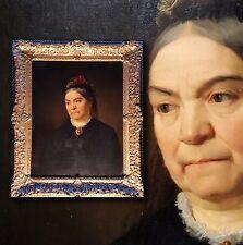 Museales antikes XL Biedermeier Portrait. Edles Damenportrait orig.  Prunkrahmen