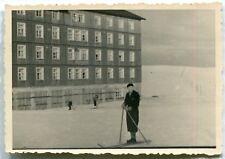 Orig. Foto Riesengebirge Skifahrer vor der Wiesenbaude 1936