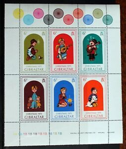 Gibraltar – 1975 Christmas – Minisheet – UM (MNH) (R5)