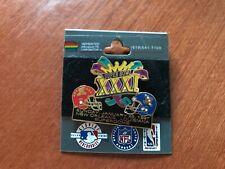 MOC Super Bowl XXXI Lapel Pin (Patriots vs Packers)  Clean.  Cool