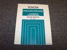 1981 1982 1983 1984 1985 Toyota Celica A40D Transmission Service Repair Manual