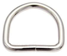 10St. D-Ringe 20mm x15x3,0 Stahl vern. Halbrund Ring Halbrunde D Ringe D-Ring