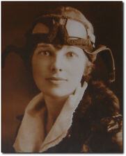 Amelia Earhart in Flight Gear - Remastered 8 x 10 Photo (Sepia)