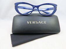 Versace MOD. 3223 5168 Blue/Gold New Authentic Eyeglasses 53mm 17mm 140mm w/Case