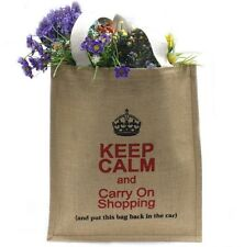 Fair Trade Eco-Ethnic Large Jute Keep Calm Shopping Bag 15 x 35 x 40cm