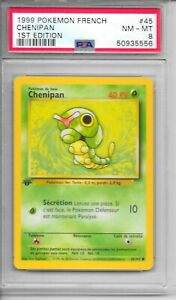 Pokemon PSA 8 NM-MT FRENCH 1999 1st Edition Base Chenipan (Caterpie) #45  NEW