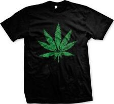 Marijuana Pot Leaf Weed Ganja 420 Smoke Natural Herb Plant Pride Mens T-shirt