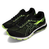 Asics GT-1000 7 2E Wide Black Hazard Green Men Running Shoe Sneaker 1011A038-004