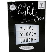 LED Leuchtkasten inkl.Buchstaben/Symbole Batteriebetrieb Deko Lampe Lightbox DIY