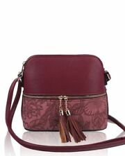 d0eab9b76f New Women s Girls Floral Patterned   Tassel Detail Messenger Bag Cross Body  Bag