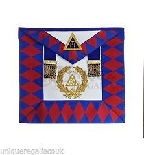 Royal Arche Suprême Grand Chapitre Dorset TABLIER main brodé cuir d'agneau