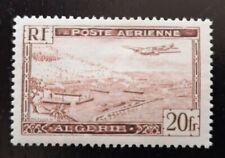 Algérie 1946 poste aérienne 20 fr type 2, N°4a, neuf avec charnière cote 220€