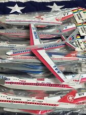 VINTAGE RARE IMPERIAL TOY CO. JAPAN 747 JUMBO GLIDER TOY AMERICAN AIRLINES 70'S