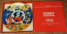 1990 Fantasia 50th Anniversary Disney Characters LE Collectors Plate Schmid COA