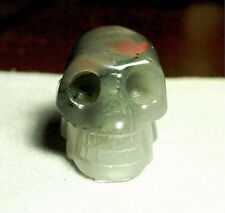 Bloodstone/Jasper Skull Carving Natural,191.36ct,1.35oz,CAR-A33, 39x29x25mm