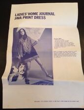 Ladies' Home Journal Java Print Dress Pattern Instructions The Beatles Mod