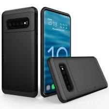 AMZER Shockproof Hybrid Case With Card Slot for Samsung Galaxy S10 - Black