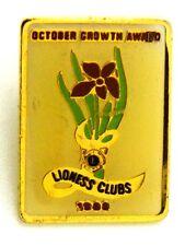Pin Spilla Lions International – Lioness Clubs October Growth Award 1988