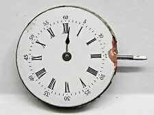 Antique No Name Pocket Watch Movement, 28 mm in size. Porcelain dial