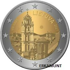 """2 Euro Gedenkmünze Litauen 2017 """" Vilnius """"  VVK"""