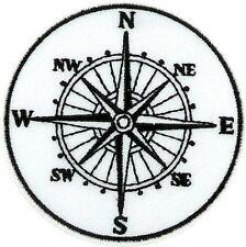 Toppe Patch toppa ricamate termoadesiva moto biker bussola nautica compass