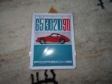 orig. Porsche 50 Jahre 911 Blech Schild  20 x 15cm Neu selten OVP 65/130/210/911