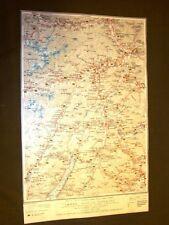 Carta geografica mappa Rovereto Bolzano Trento Tione Touring Club Italiano 1922