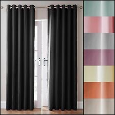 Pair Canvas 3 Pass Blackout Ring Top/Eyelet Curtains - Accessories Available