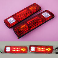 2x Tail 19 LED Stop Turn Signal Light Indicator Reverse Lamp For Trailer Truck