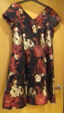 BNWT Party Tea Embroidered  Dress by Moda - George size 14 - Red/Black and Gold
