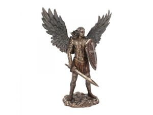 SAINT MICHAEL THE ARCHANGEL Veronese 35cm Bronzed Ornament Nemesis Now FREE P+P