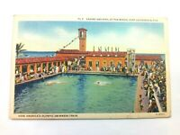 Vintage Postcard Casino & Pool at the Beach Fort Lauderdale FL Olympic Swimmer