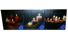 Premier AC121354 30x30cm LED Lit Candle Canvas - x3 Assorted Designs