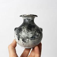 Svend Hammershoj Vase HAK Studio Pottery Danish Collectible Stoneware Gray Black