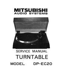 Mitsubishi DP-EC20  turntable Service Manual