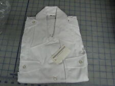 womens dress white shirt size 40B 16N NIP DSCP military short sleeve button