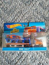 Hot Wheels Road Rally Transporter with Car Included NEW in SEALED PACKAGE