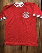 Vintage 70s Champion Blue Bar Mit Red Mesh Jersey Top Tee Shirt Size L