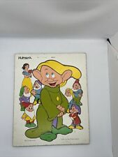 Vintage Playskool Walt Disney Productions DOPEY Snow White 9 Piece Puzzle