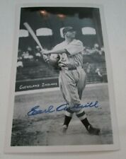 autographed photo post card- Cleveland Indians Hall of Famer - Earl Averill (59Q
