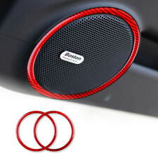 Red Car Door Audio Speaker Trim Cover Sticker Trim For Camaro 2010-2015