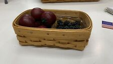 2004 Longaberger Small Loaf Signed By Jeff longabeger Divider W/ Wood Berries