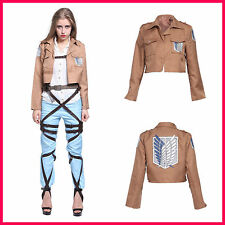 Attack on Titan Scouting Legion Jacket Shingeki no Kyojin Anime Cosplay Costume