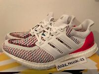 ADIDAS ULTRA BOOST LTD WHITE MULTI RAINBOW US 10 UK 9.5 44 RED COLOURED 2.0