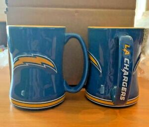 Los Angeles Chargers 14oz Sculpted Relief Coffee Mug NFL - 2020 COLOR VERSION