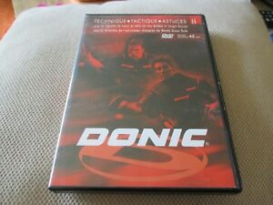 "RARE! DVD ""DONIC : TECHNIQUE, TACTIQUE & ASTUCES"" tennis de table (ping pong)"