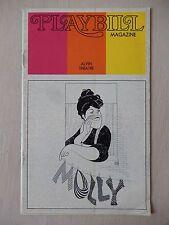 December 1973 - Alvin Theatre Playbill - Molly - Kay Ballard - Lee Wallace